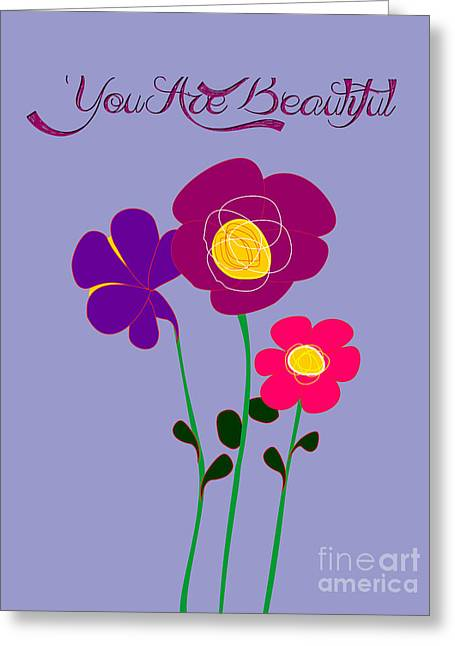 You Are Beautiful - Poppies Greeting Card
