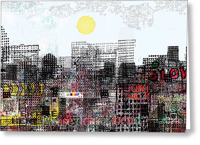You Are Here  Greeting Card by Andy  Mercer