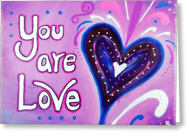 You Are Love Purple Heart Greeting Card