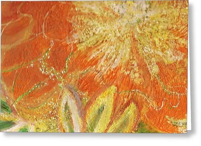 You Are My Sunshine Flower Greeting Card by Anne-Elizabeth Whiteway