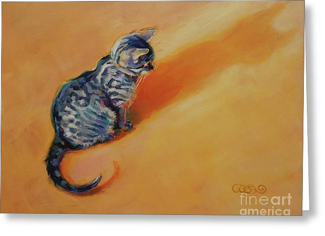 Orange Tabby Paintings Greeting Cards - You Are My Sunshine Greeting Card by Kimberly Santini