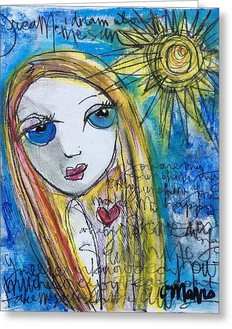 You Are My Sunshine  Greeting Card by Laurie Maves ART
