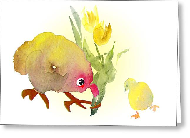 You Are The Cutest Thing Ever Greeting Card by Miki De Goodaboom