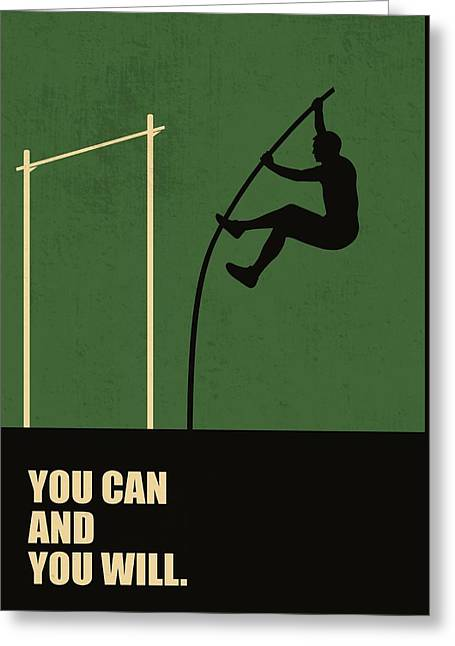 You Can And You Will Life Inspirational Quotes Poster Greeting Card