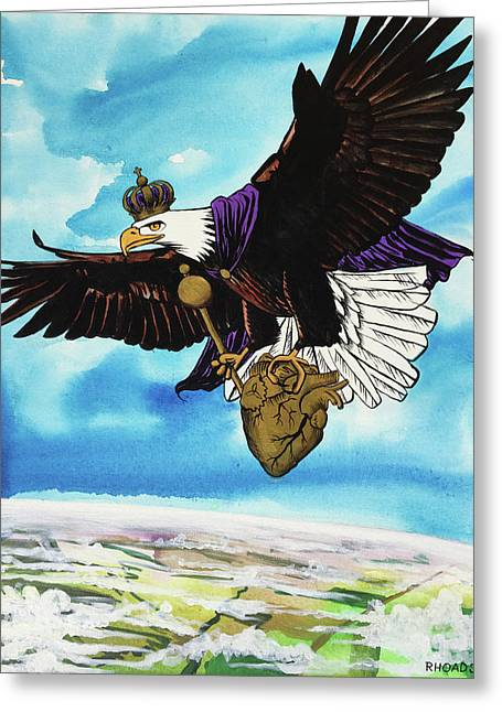 Greeting Card featuring the painting You Can Soar by Nathan Rhoads