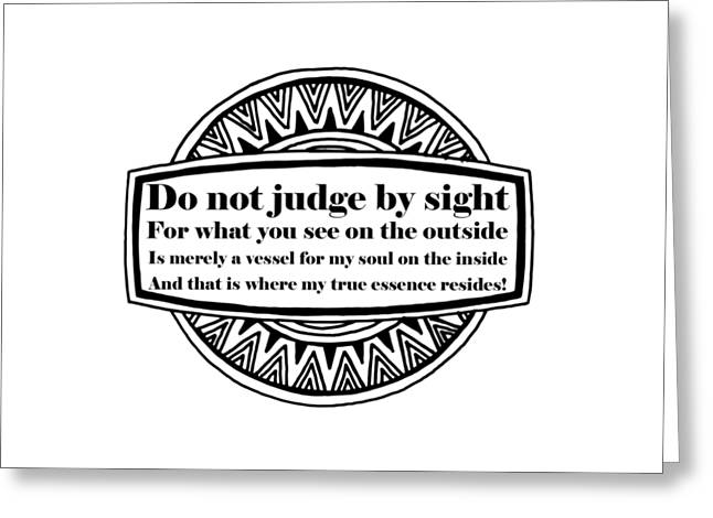 You Can't Judge Me Greeting Card by FirstTees Motivational Artwork