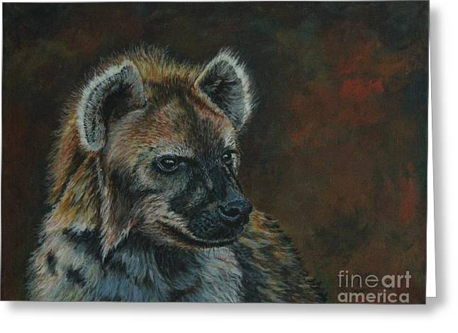 You Don't See Me Laughing......hyena Greeting Card