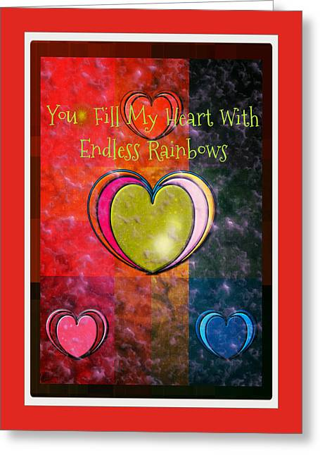 You Fill My Heart Greeting Card