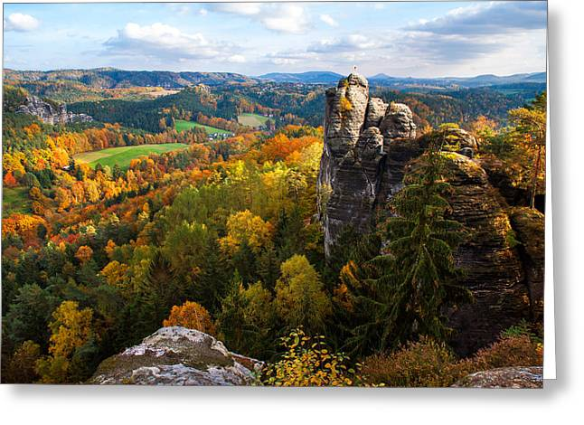 You Give Me The Wings. Saxon Switzerland Greeting Card by Jenny Rainbow