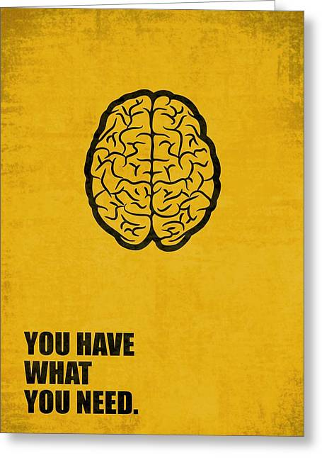You Have What You Need Corporate Start-up Quotes Poster Greeting Card