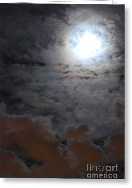 You Just Got Mooned Greeting Card by Joy Bradley