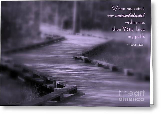 You Knew My Path Greeting Card by Debra Straub