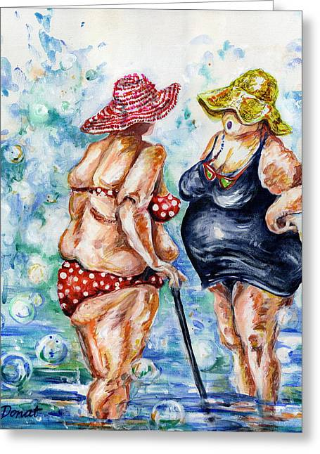 Steam Bath Greeting Cards - You Look Remarkable in that Suit Greeting Card by Margaret Donat