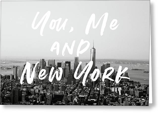 I love new york greeting cards fine art america you me and new york art by linda woods greeting card m4hsunfo