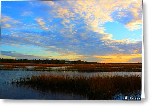 You Paint The Morning Sky Greeting Card by Jill Tennison