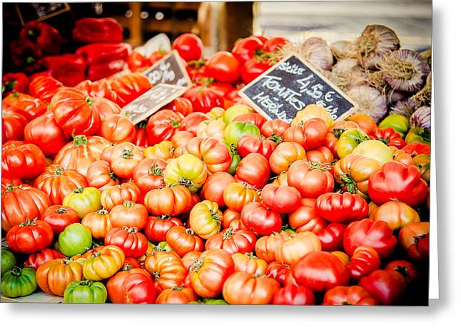 Greeting Card featuring the photograph You Say Tomato by Jason Smith