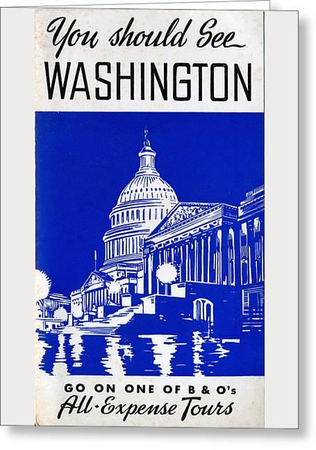You Should See Washington Greeting Card