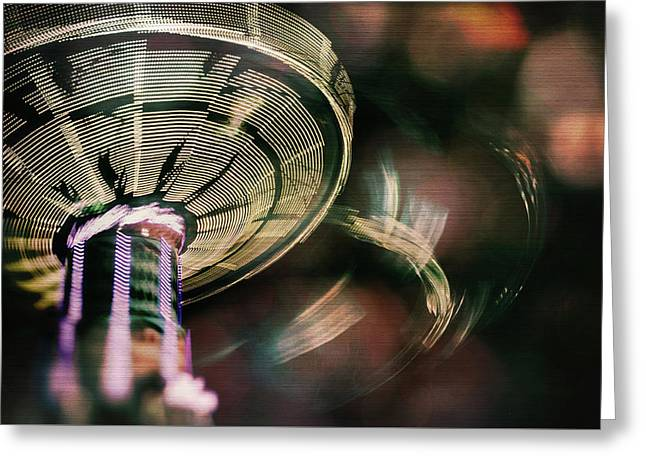 You Spin Me Right Round Greeting Card by Nicole Frischlich