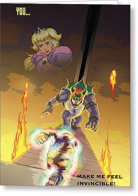 You Super Mario Inspirational Poster Greeting Card by Carl Chrappa