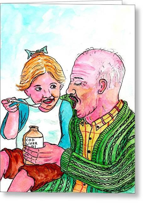You Take It First Grandpa Okay Greeting Card