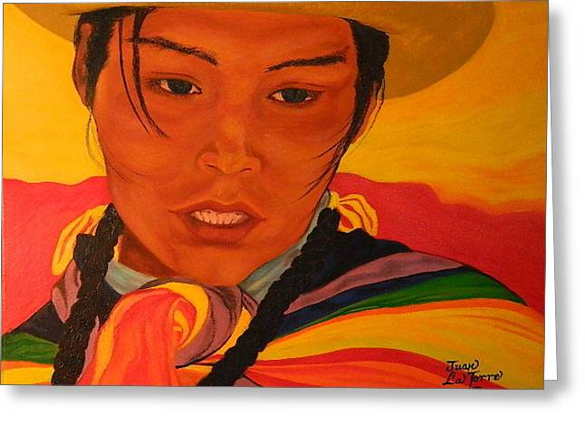 Young Andean Woman Greeting Card