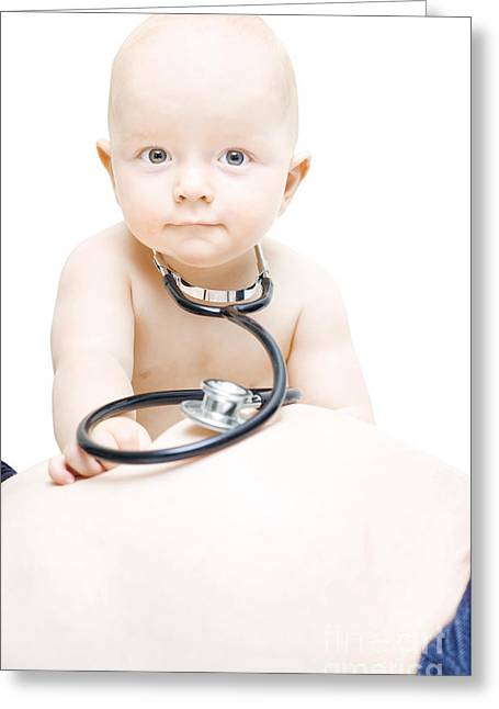 Young Baby Paediatrician Greeting Card by Jorgo Photography - Wall Art Gallery