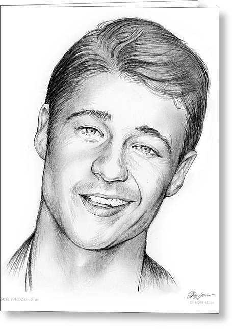 Young Ben Mckenzie Greeting Card by Greg Joens