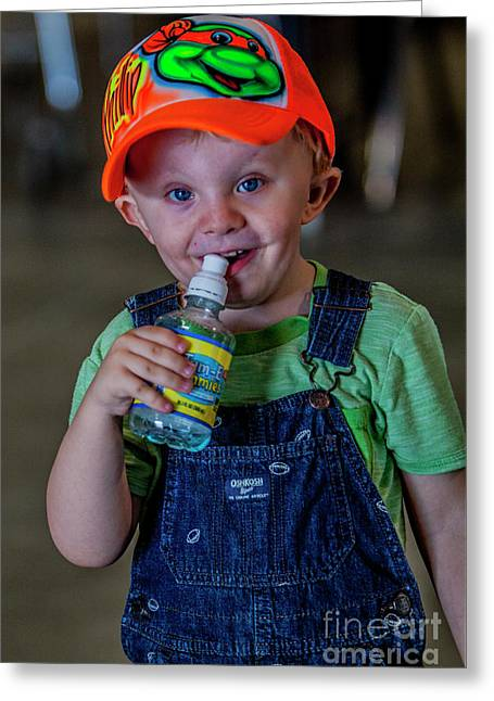 Young Bluegrass Music Fan 3759v Greeting Card