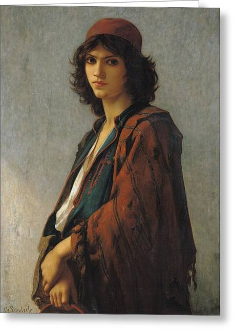 Young Bohemian Serb Greeting Card by Charles Landelle