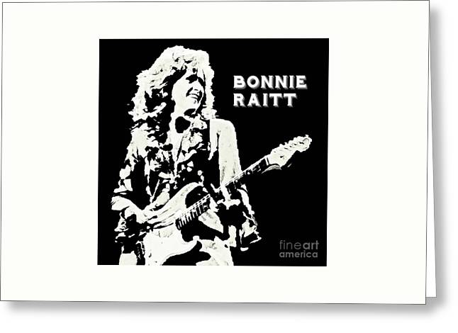 Young Bonnie Raitt Poster Greeting Card by John Malone