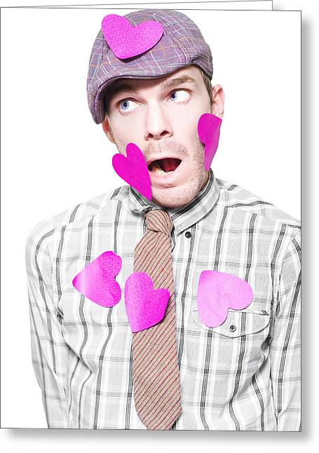 Young Boy Covered In Be My Valentine Love Letters Greeting Card by Jorgo Photography - Wall Art Gallery