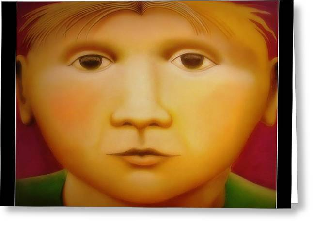 Young Boy - In Large Scale Greeting Card by Chris Boone