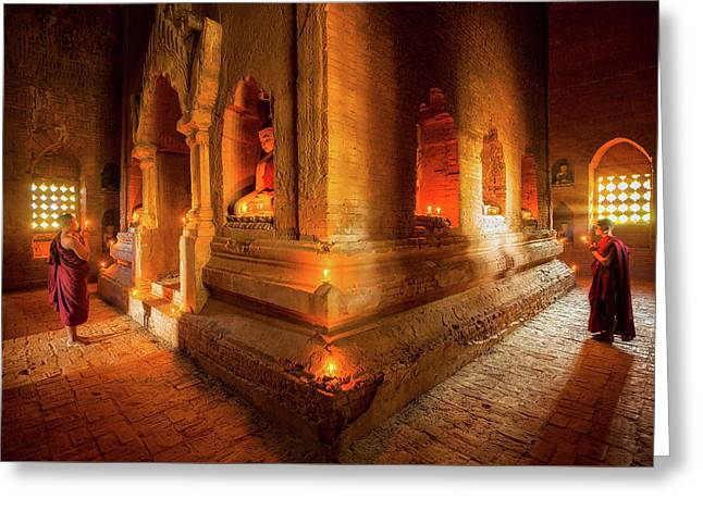 Young Buddhist Monk  Greeting Card