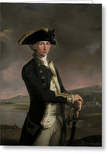 Young Captain Horatio Nelson Greeting Card