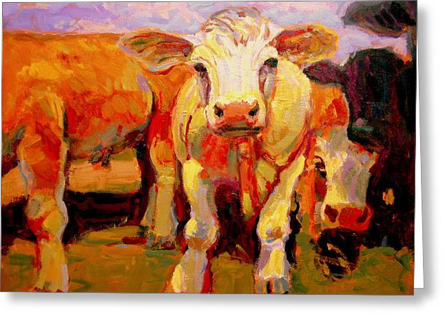 Young Cow Greeting Card by Brian Simons