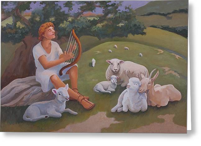 Young David As A Shepherd Greeting Card