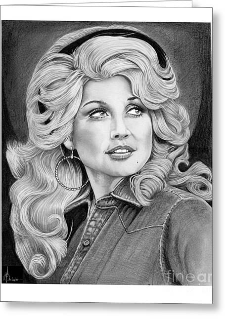Young Dolly Parton Greeting Card by Murphy Elliott