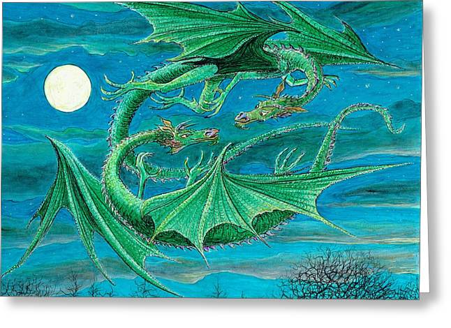 Young Dragons Frisk Greeting Card by Charles Cater
