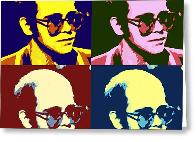 Young Elton John Pop Art Poster Greeting Card by Pd