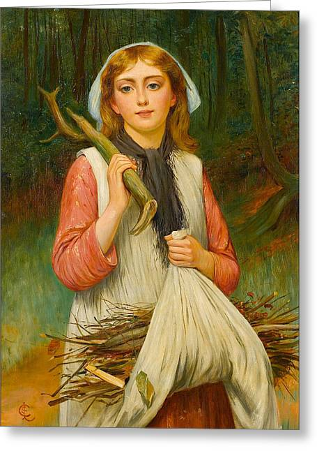 Young Faggot Gatherer Greeting Card by Charles Sillem Lidderdale