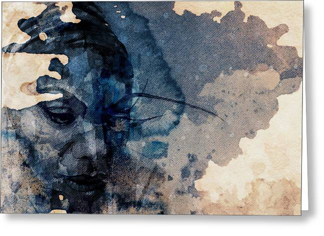 Young Gifted And Black - Nina Simone  Greeting Card by Paul Lovering