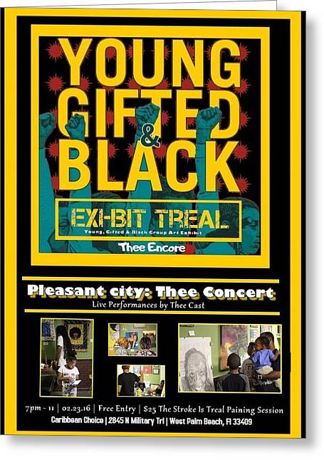 Young Gifted And Black Thee Encore Variant Greeting Card by JaFleu