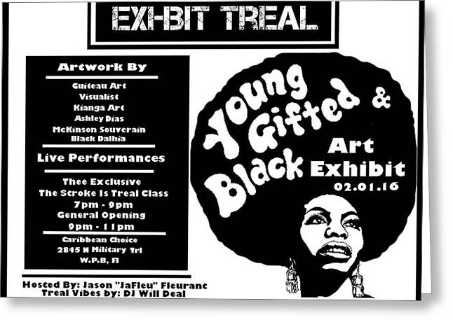Young Gifted Black Flyer Greeting Card by JaFleu
