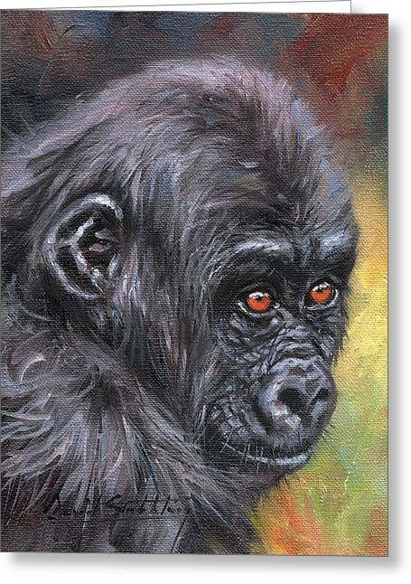 Young Gorilla Portrait Greeting Card