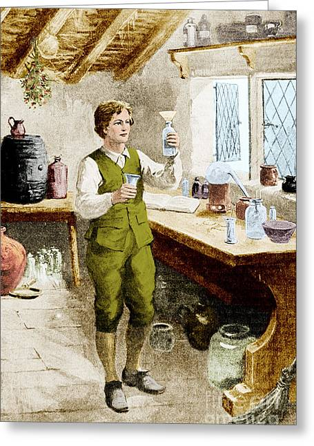 Young Humphrey Davy Greeting Card by Science Source