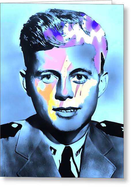 Young Kennedy Artwork Greeting Card by Alex Antoine
