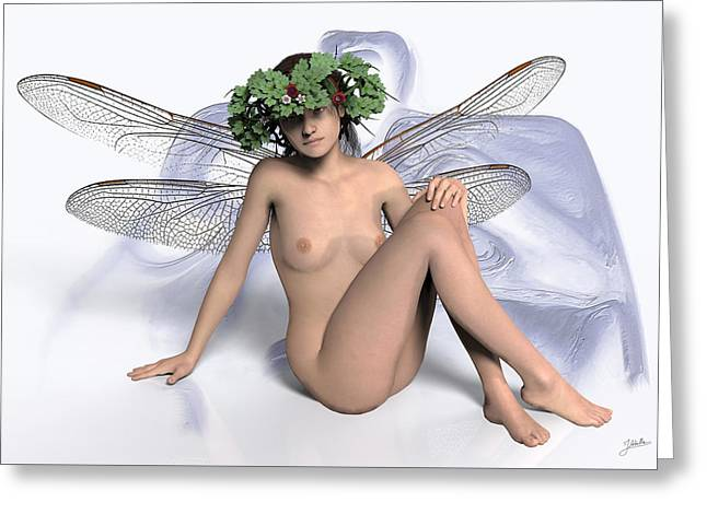 Young Lady Dragonfly Greeting Card