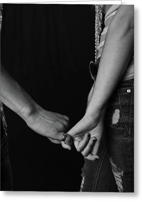 Young Love - Pinky Touch Greeting Card by Scott Sawyer