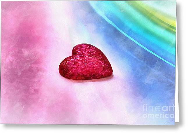 Young Love Greeting Card by Krissy Katsimbras