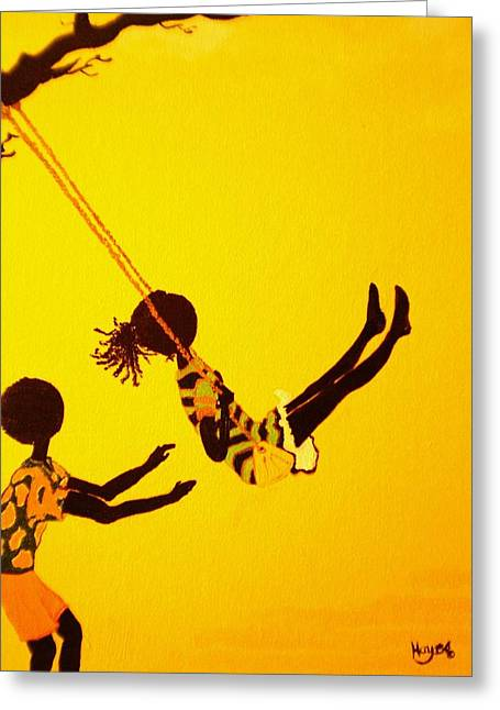 Young Love-swing Time Greeting Card